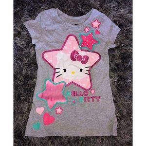 HELLO KITTY   Girls Glitter Kids Top Medium 7/8